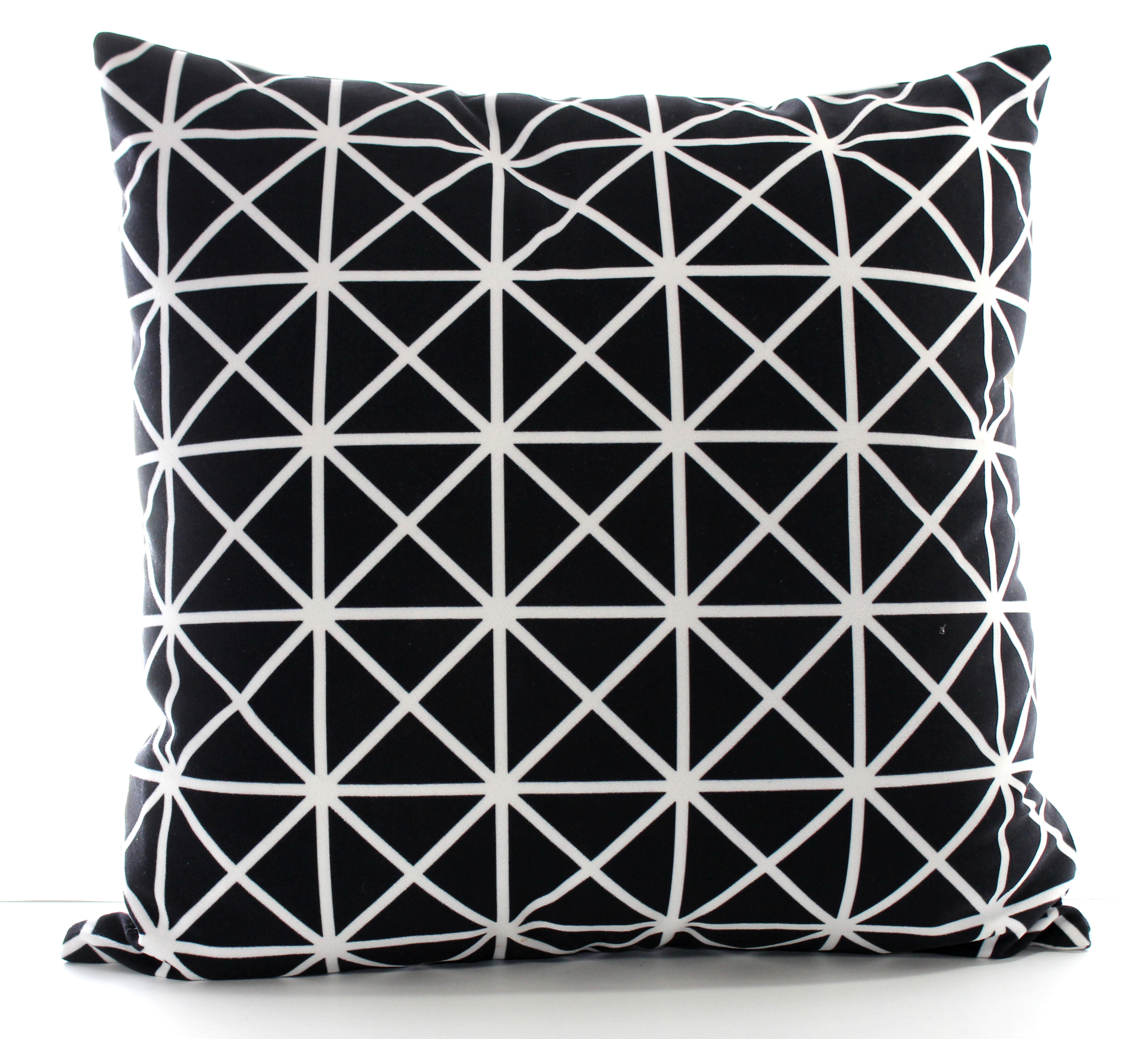 Pure Black and White Cushion Cover. Set of 2.