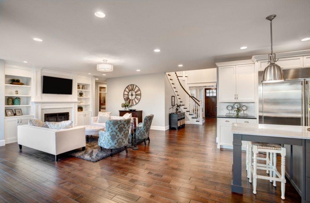 Room with hardwood floor